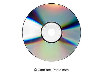 cd - compact disc close up shoot on white