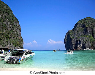 phuket - Beach view of Phi Phi Island in Phuket Thailand