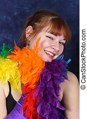 Smiling Dance Student - A pretty red-headed dance student...