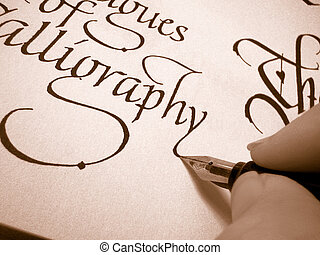 calligraphy3 - writing in calligraphy letter form on...