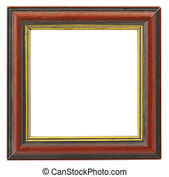 square frame - close-up of hollow square frame isolated on...