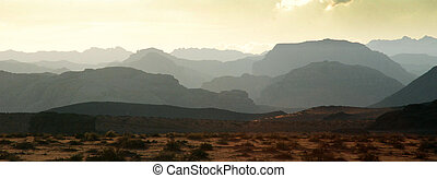 panorama of Wadi Rum desrt in Jordan