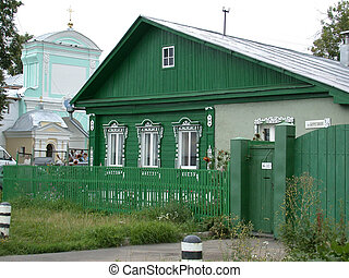 Farmhouse, old style, central Russia,