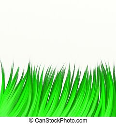 painted grass - painted long green grass isolated on white...