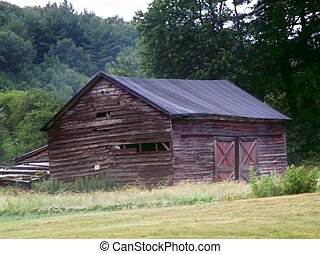 Old Barn - A photo of an old barn in a rual area.