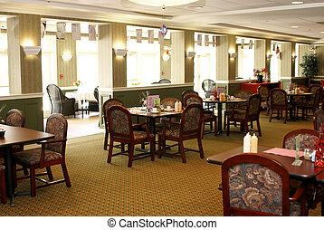 Main Dining Room - fancy dining room with tables set for...