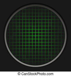 Radar Grid - A circular radar grid background over black