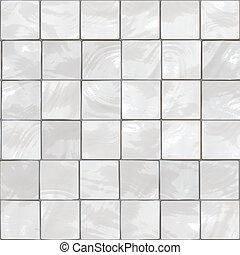 White tiles - White bathroom tiles background - this tiles...