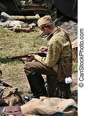 World War 2 soldiers - World War II recounstruction group -...