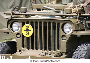 American Willys Jeep - World War II equipment detail -...