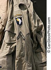 sargento, aerotransportado, uniforme