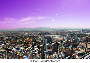 Up High - Ariel view of Las Vegas