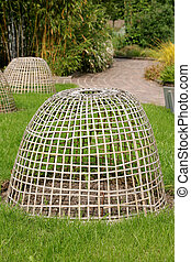 Plant Protection Frame - Woven wooden plant protection...