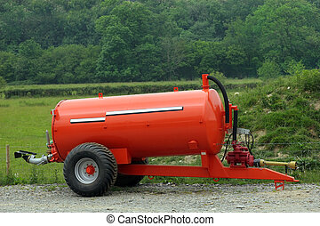 Muck and Slurry Tank - New metal orange muck and slurry...