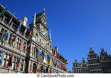 Antwerp\\\'s Town Hall, Belgium.