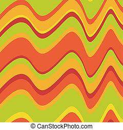 Retro, asimétrico, ondas