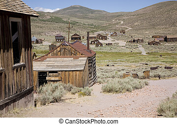 Bodie, California - Bodie Ghost Town - Hill top view