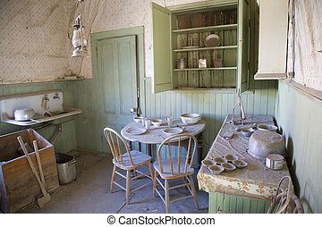 Bodie Ghost Town 6 - Abandoned Kitchen, Bodie