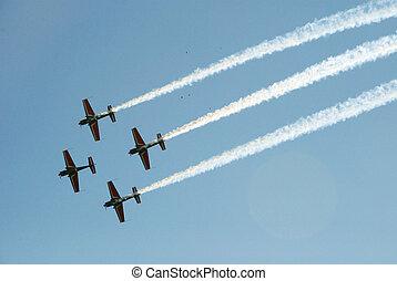 acrobatic air show - In Elat, Israel