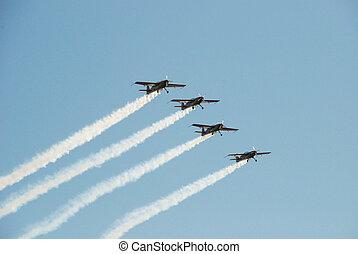 acrobatic air show - Elat, Israel