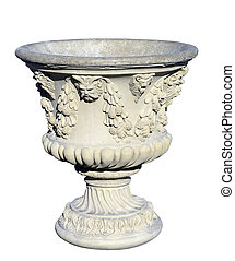Concrete Decorative Planter - A decorative concrete planter...