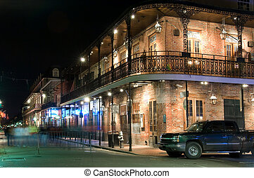 French Quarter at night - Bars and clubs in French Quarter,...