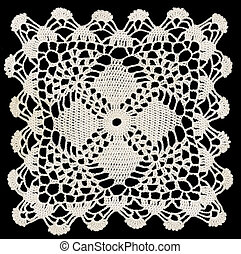 Doily - Knotted retro lace pattern