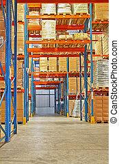 Shelf in storehouse