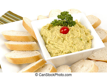 Roasted garlic hummus - Delicious roasted garlic hummus dip...
