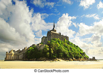 Mont Saint Michel - View on Mont Saint Michel abbey in...