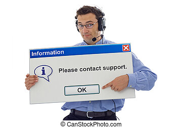 Friendly support personnel - Friendly IT support staff...