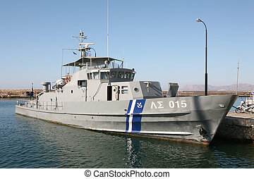 Greek coastguard vessel - A Greek coastguard ship, tied up...