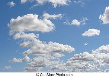 Blue sky - blue sky with clouds