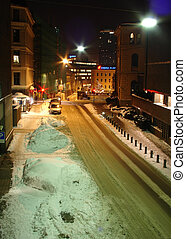 street on winter - norvegian street on winter night...