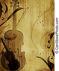 Abstract Background - Violin - Grunge Background