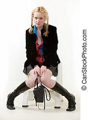 adolescente,  Pouting