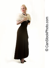 High class woman - Full body of an attractive woman with...