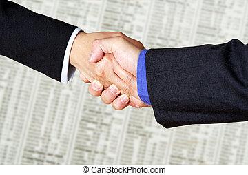 Business handshake - A handshake between two businessmen...