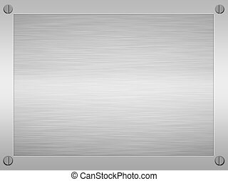 framed brushed metal - sheet of rendered brushed steel or...