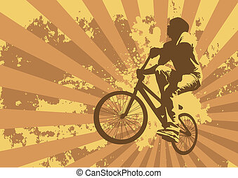 biker - grunge f/x and biker made from my photos and...