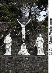 forgiveness 2 - a statue of the crucifiction