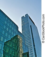 Skycrapers reflections - Old and new architecture in Warsaw...