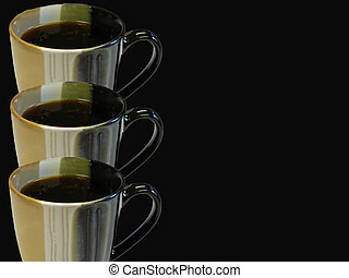Coffee Background - Coffee background mostly black with...