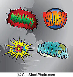 Superhero bashing 3 - Comic fighting bubbles of super heroes...