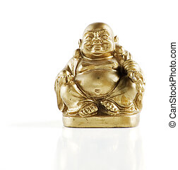 Faux Golden Buddha - Gold painted laughing buddha figurine...