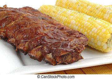 barbecued, costillas