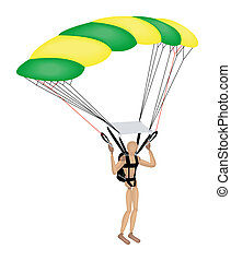 SkyDiving - Mannequin Series: Skydiving with Clipping Path