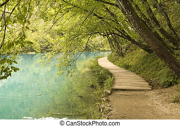 lakeside - landscape nature park in Croatia - lakeside