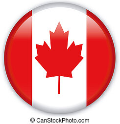 Button Canada - Button with map from Canada