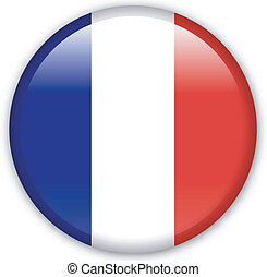 Button France - Button with map from France
